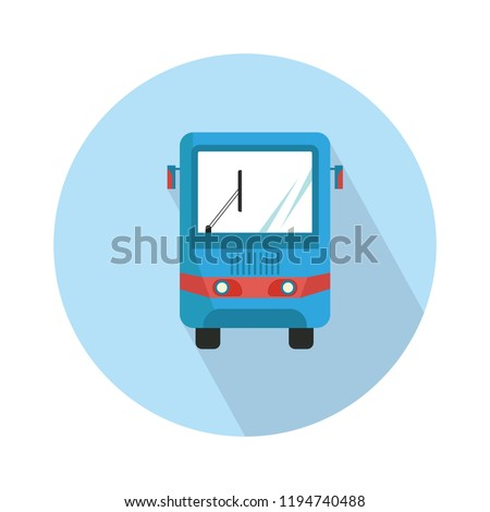 modern bus symbol, stylized bus icon for logo or emblem template