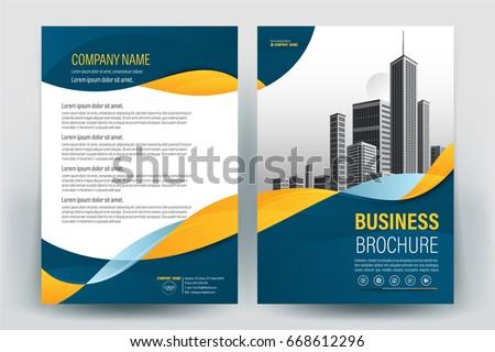 modern business brochure layout