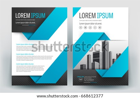 Vector brochure flyer design layout template in a4 size download modern business brochure layout flyers design template magazine poster annual report wajeb Image collections