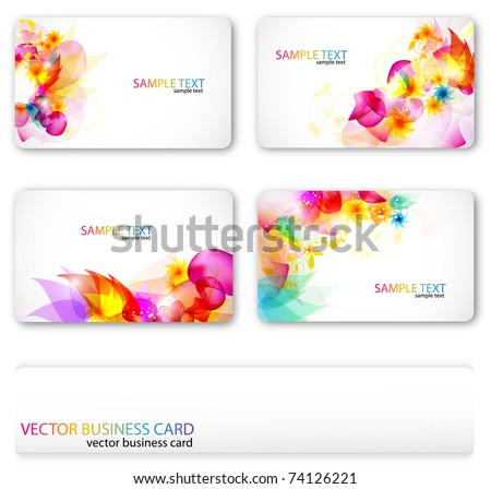 Modern Business-Card Set. Designed in the same style