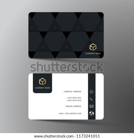 Black business card vector template download free vector art modern business card template design with inspiration from the abstract contact card for company cheaphphosting Choice Image