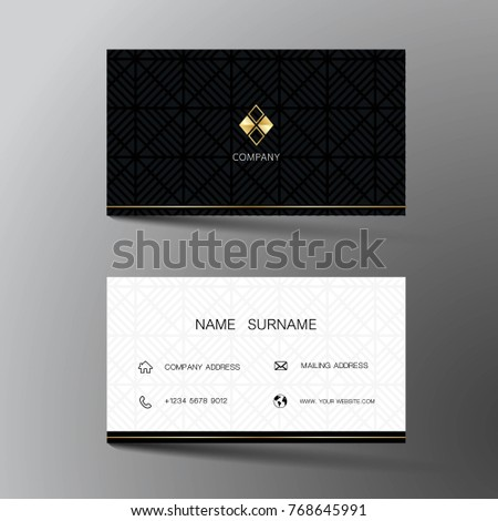 Simple black and white dark business card design download vetores modern business card template design with inspiration from the abstract contact card for company reheart Images