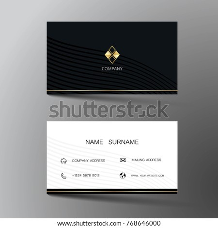 Two sided business card vector design download free vector art modern business card template design with inspiration from the abstract contact card for company fbccfo Image collections