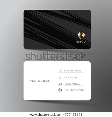 Two sided business card vector design download free vector art modern business card template design with inspiration from the abstract contact card for company flashek