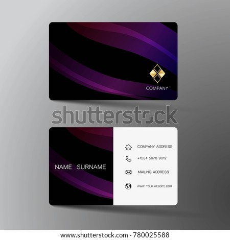 creative purple business cards download free vector art stock