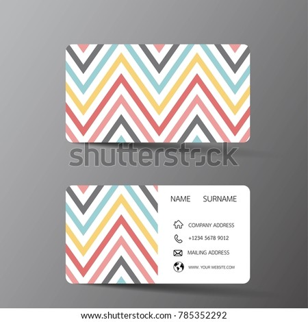 Modern Business Card Template Design With Inspiration From The Abstract Contact For Company
