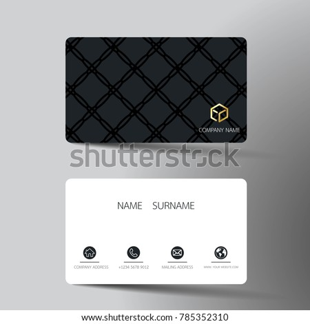 Black business card vector template download free vector art modern business card template design with inspiration from the abstract contact card for company friedricerecipe Choice Image