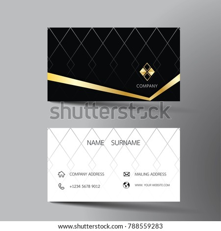 Two sided business card vector design download free vector art modern business card template design with inspiration from the abstract contact card for company wajeb