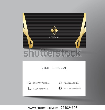 Two Sided Business Card Vector Design Download Free Vector Art - Two sided business card template