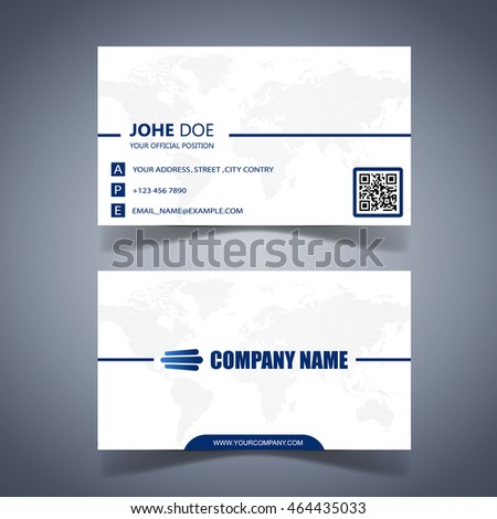 Modern business card template well design
