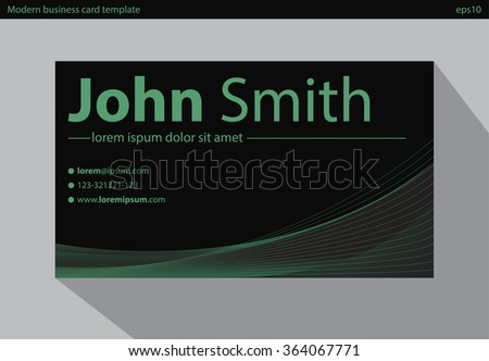 Beautiful business card template in blue theme download vetores e modern business card vector template reheart Image collections