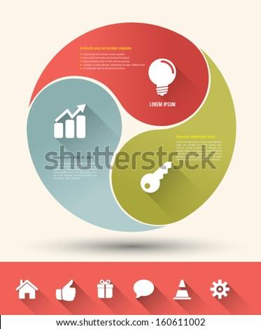 modern business circle yin yang
