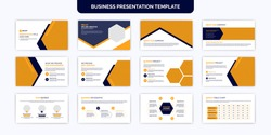 Modern business & corporate presentation slides with infographic template design