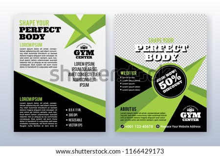 Modern business cover and flyer template. Multipurpose flyer background.