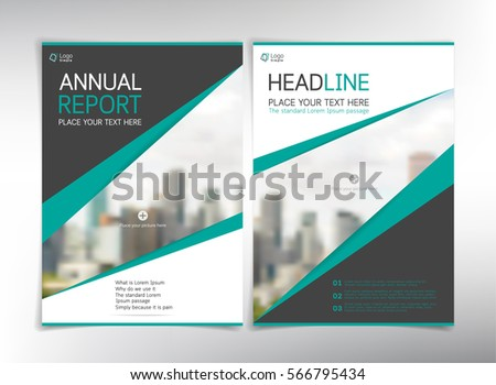 modern business cover pages vector template with space for your pictures can be used