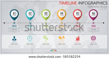 Timeline Infographic Template Vector Download Free Vector Art - Timeline graphic template