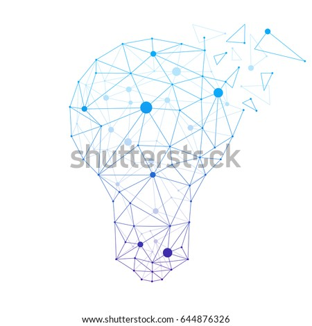 Modern business idea vector illustration made from network polygons isolated on light background.