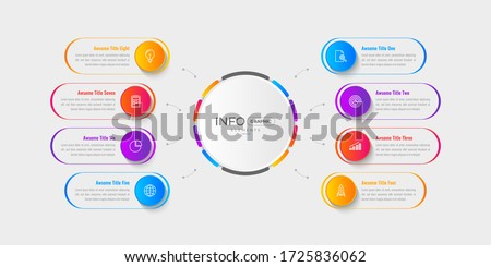 Modern Business Infographic elements. Minimal Infographics for business concepts. Can be used for presentations, flow charts, web sites, banners, etc. Photo stock ©
