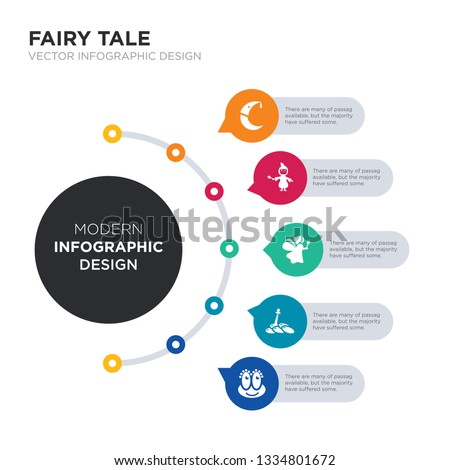 modern business infographic illustration design contains enchantment, excalibur, fairy, fairy godmother, fairy tale simple vector icons. set of 5 isolated filled icons. editable sign and symbols