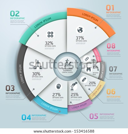 Modern business Infographics circle origami style Vector illustration. can be used for workflow layout, banner, diagram, number options, step up options, web design.