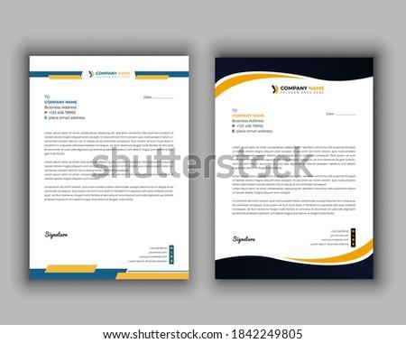 Modern business letterhead template vector format