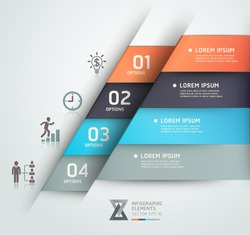 Modern business steb origami style options banner. Vector illustration. can be used for workflow layout, diagram, number options, step up options, web design, infographics.