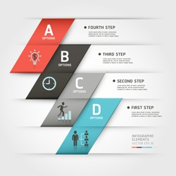 Modern business steb origami style options banner. Vector illustration. can be used for workflow layout, diagram, number options, step up options, web template, infographics.