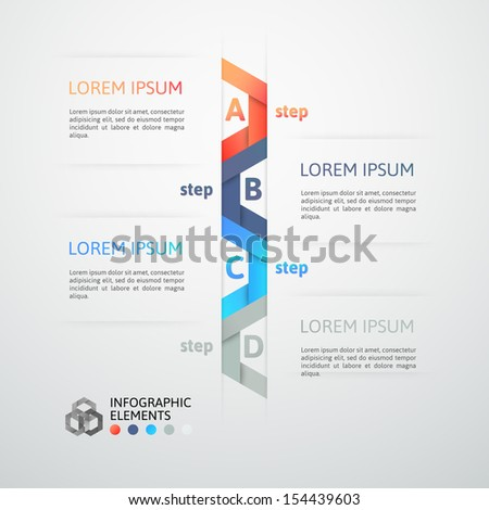 Modern business step origami style options banner vector illustration can be used for workflow layout diagram number options step up options web design banner template infographic