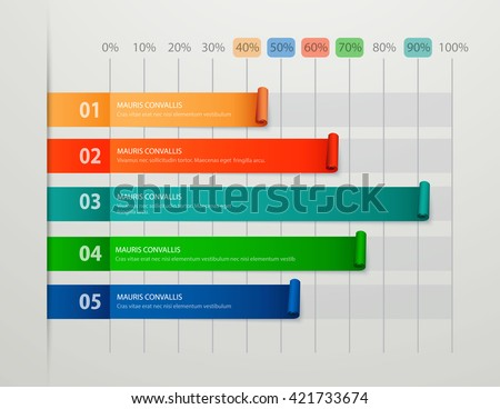 Modern business steps to success chart and graph options banner. Vector illustration