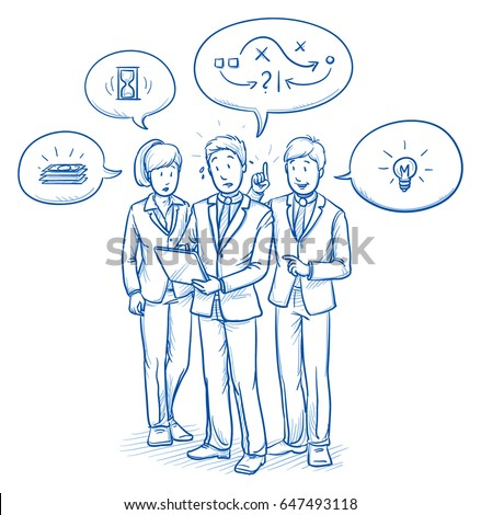 modern business team looking...