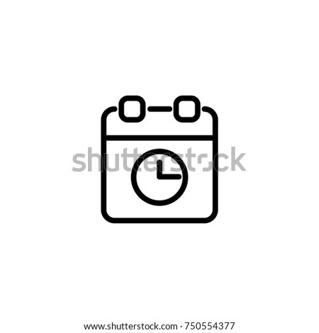 Modern calendar line icon. Premium pictogram isolated on a white background. Vector illustration. Stroke high quality symbol. Calendar icon in modern line style.