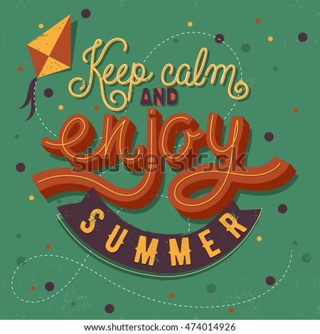 modern calligraphic summer...