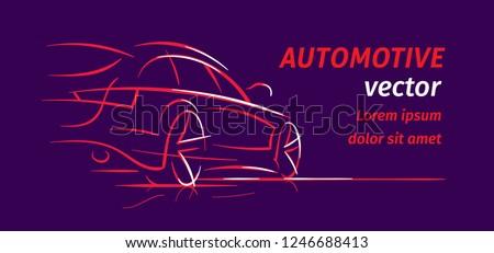 modern car abstract line