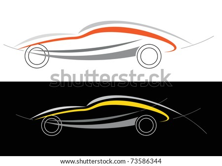 Championship Auto Racing Teams Management on Vector   Modern Car  Can Be Used As Symbol Of Auto Club  Racing Team