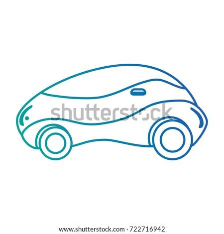 modern car futuristic icon