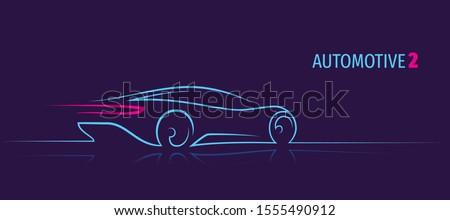 modern car minimalistic line