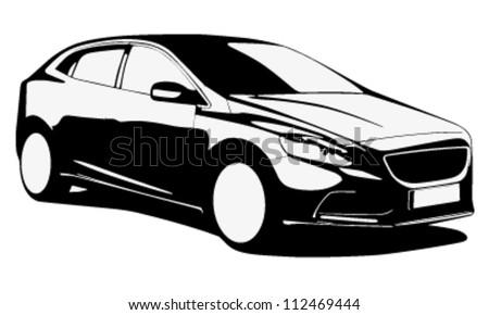modern car silhouette