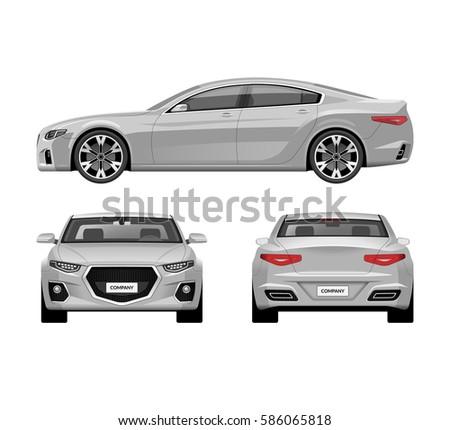 modern car vector templates set