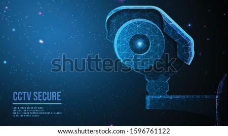 modern cctv camera   concept of