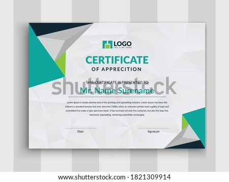 Modern Certificate layout template design,Multipurpose Modern Professional Certificate Template Design for Print.Vector certificate template,Certificate Premium template awards diploma background