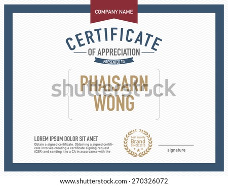 Modern certificate vectors download free vector art stock modern certificate template yadclub Images