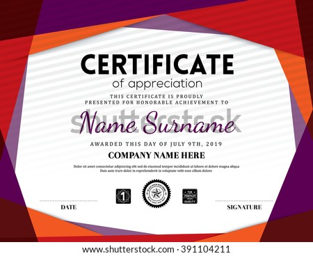 Certificate of appreciation modern template design download free modern certificate triangle background frame design template yadclub Image collections