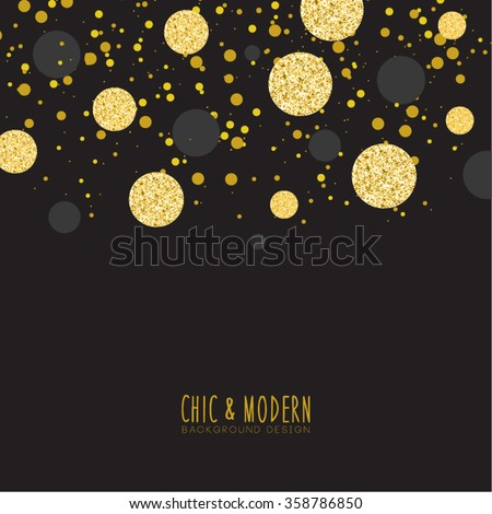 modern chic black gold