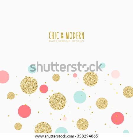 Modern Chic Colourful Polka Dot Background Vector Design