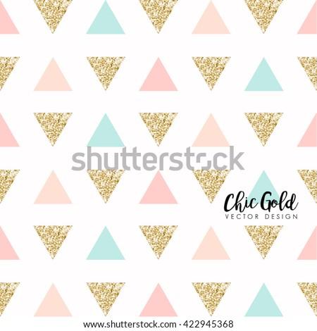 modern chic gold background