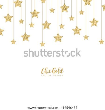 Modern Chic Gold Star Shape Vector Design