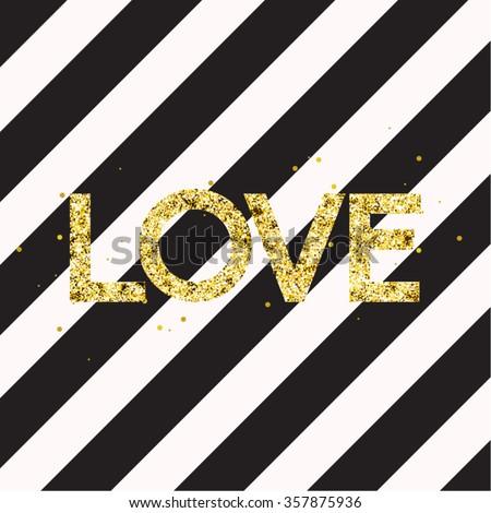 modern chic love typography