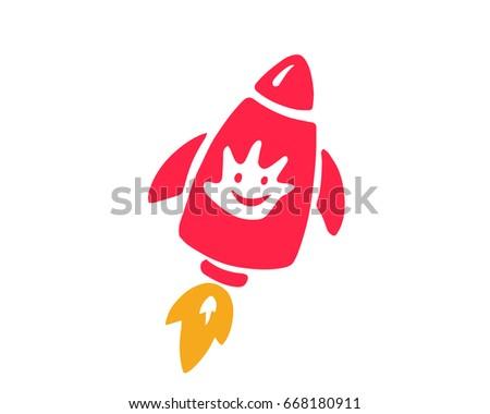 Modern Children Education Logo - Excel Rocket Science Kids Education Symbol