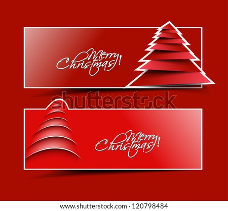 Modern christmas header design, eps10 vector illustration