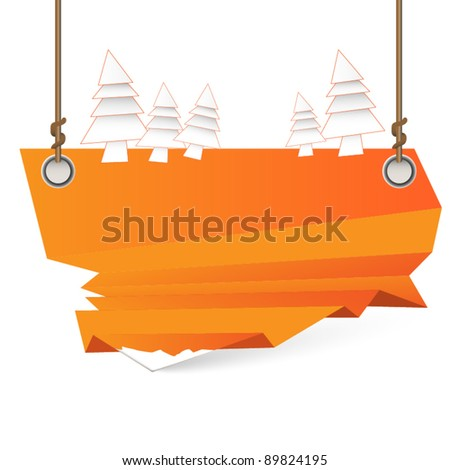 Modern Christmas pointer - stock vector